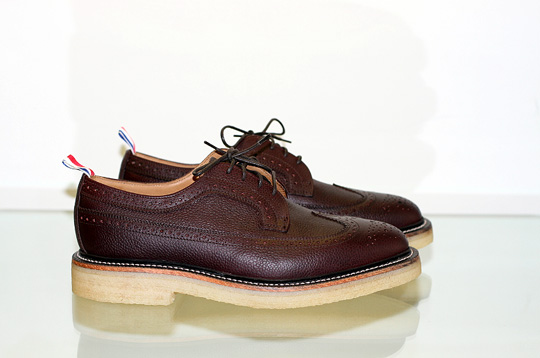 Thom Browne Wingtip Brogue with Crepe Sole