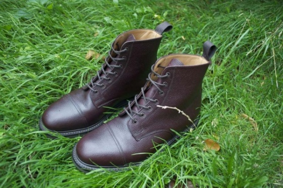 McNairy Brown Grain Derby Boots