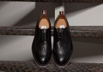Thom Browne Black Pebble Wingtip Shoes-1