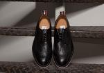Thom Browne Black Pebble Wingtip Shoes-1