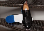 Thom Browne Black Pebble Wingtip Shoes-2
