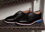 Thom Browne Black Pebble Wingtip Shoes-3