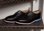 Thom Browne Black Pebble Wingtip Shoes-3